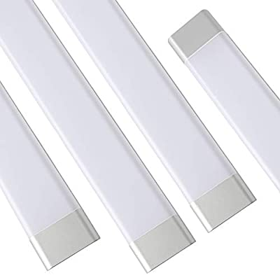 LED Tube Lights Fixture, T11 LED Surface Mount Shop Light, Fluorescent Tubes Replacement, Lighting Fixtures for Garage Closet, 180 Degrees Beam Angle, 6500K (Daylight White)