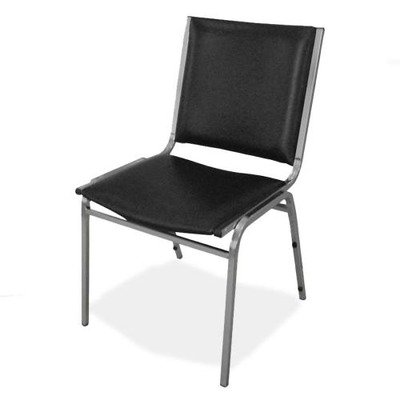 (Lorell Armless Stacking Chairs, 20-3/4 by 19-3/6 by 35-5/8-Inch, Black)