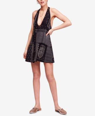 Free People Women's Embellished Nights Swing Dress Black Medium