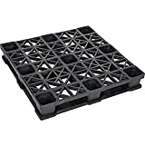 Rackable Plastic Pallet, 43x43x6-3/8 - Lot of 5