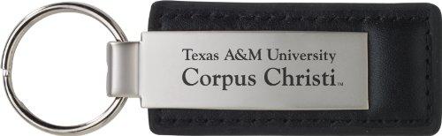 Texas A&M University-Corpus Christi - Leather and Metal Keychain - Black