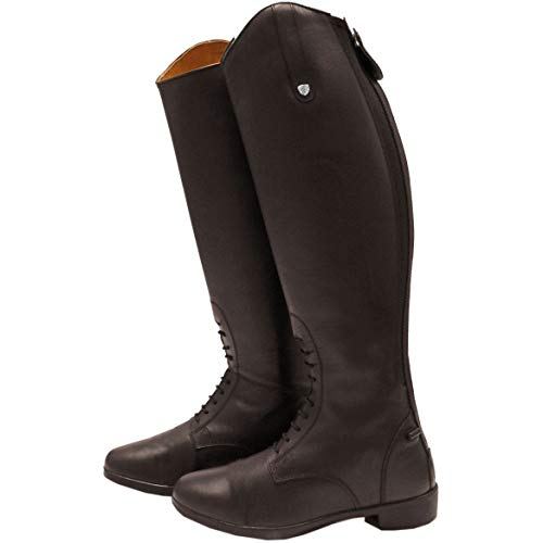 Womens Riding Horseware Brown Long Laced Boots A0xxqnBw
