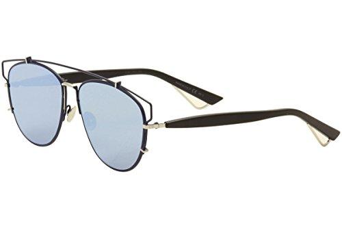 Dior PQU Blue Black Technologic Aviator Sunglasses
