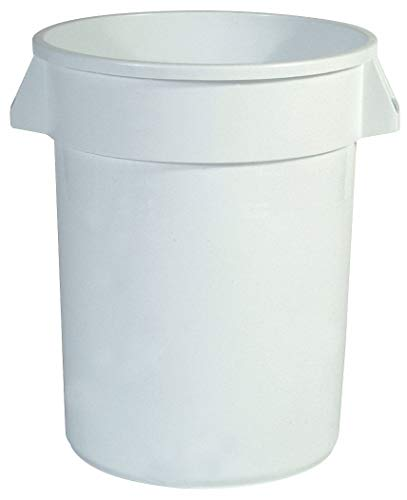 Food-Grade Waste Container, 10 gal, White