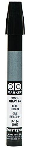 The Original Chartpak AD Marker, Tri-Nib, Cool Gray 4, 1 Each -