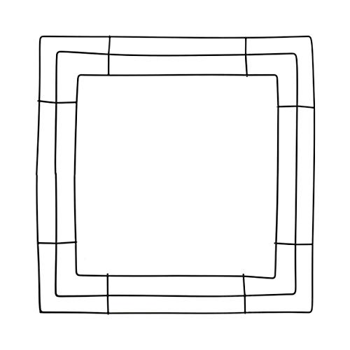 Tilde Party Square Metal Wire Wreath Frame - 14