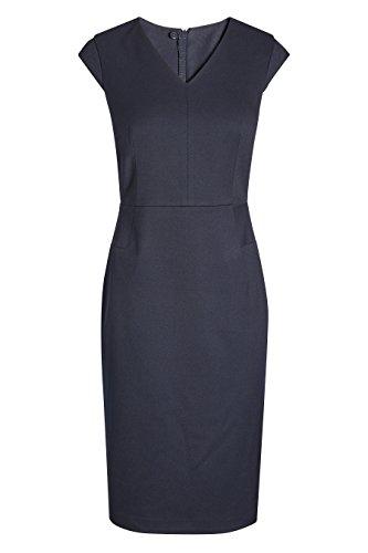 Damen next mit Marineblau Kleid Figurbetontes Flügelärmeln HwwqPfd