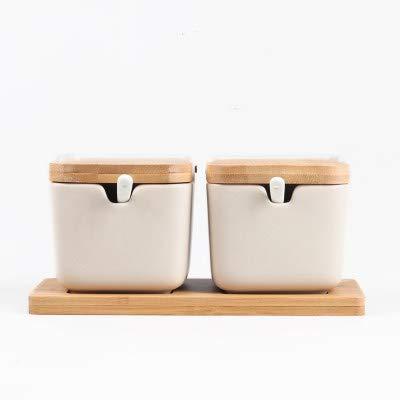 Herb & Spice Tools | Creative Japanese-Style Clamshell Ceramic Seasoning Jar/Salt Pepper Bottle Flavoring Tool Seasoning Jar Kitchen Supplies | By ATUTI by ATUTI