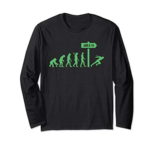 Human Evolution - Storm Area 51 They Can't Stop All of Us Long Sleeve T-Shirt (Best Ufo Evidence 2019)