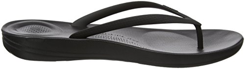 Noir Tongs Flops All Black Flip Iqushion Femme FitFlop Ergonomic 7qHOYHU