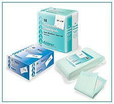 Disposable Underpads, 17x24, Tissue Fill - 3 packs of 100/Case