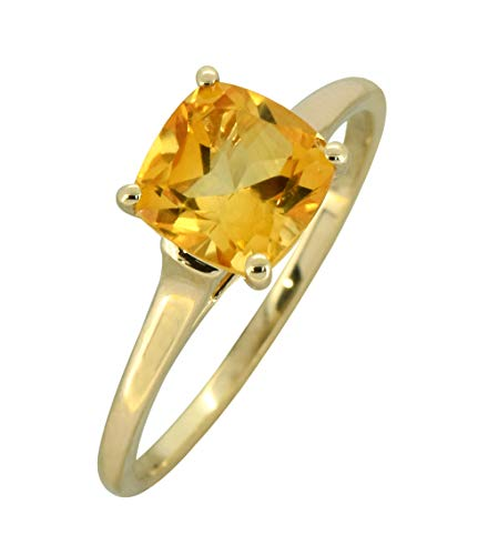 - YoTreasure 1.70 Ct. Citrine Solid 10K Yellow Gold Bridal Solitaire Ring