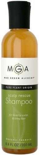 Max Green Alchemy Organic Formula Scalp Rescue Shampoo Regular Size (8.8 Fluid Ounces) - Green Organic Shampoo