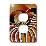 3dRose LLC lsp_128358_6 Touched By Africa African Themed Art of A Man and Woman Kissing and in Love 2 Plug Outlet Cover
