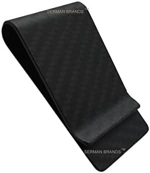 Real Carbon Fiber Money Clip Wallet Business Credit Card Cash Glossy