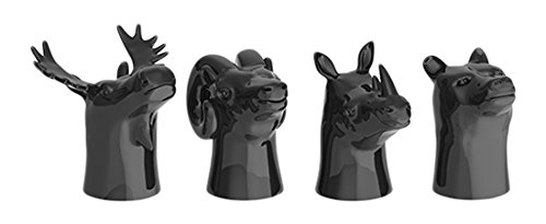 Ceramic Animal Head Shot Glasses by Foster and Rye ()