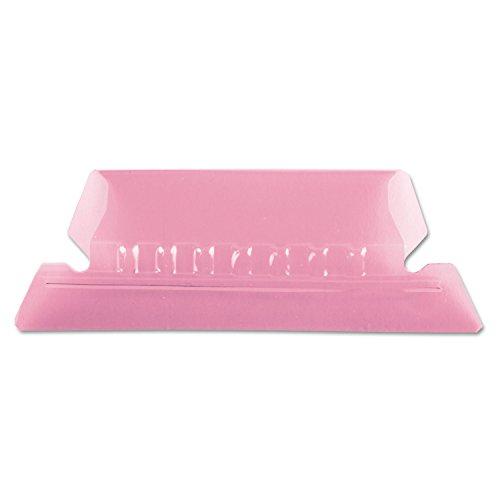 (Pendaflex 42PIN Hanging File Folder Tabs, 1/5 Tab, Two Inch, Pink Tab/White Insert, 25/Pack)