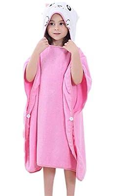 Cartoon Hooded Bath Poncho Towel for Boys/Girls