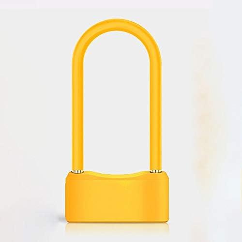 電気自動車のロック自転車ロック盗難防止インテリジェントU-ロックリチウム電池充電式雨や防塵アンチ汚い指紋ロック (色 : 赤, サイズ : ワンサイズ)