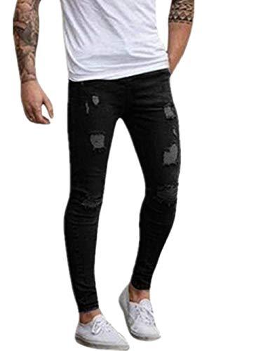 Chino Fashion Stretch Lunghi Giovane Nero Allenamento Cargo Da Uomo Pantaloni Denim Jeans Saoye qIdpw6B6