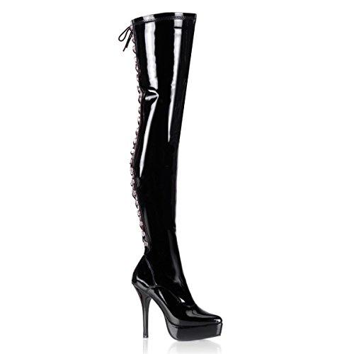 Devious Indulge-3063 - Sexy Fetisch Plateau High Heels Overknee Stiefel 36-48