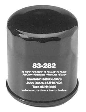 Oregon 83-282 Oil Filter Replaces Club Car 41016-67 Cushman 833438 John Deere AM101054 AM107423 Kawasaki 49065-2001 49065-2057 (83 Oil)
