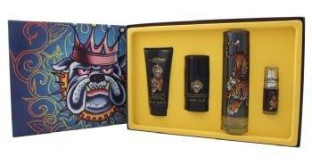 Ed Hardy By Christian Audigier Gift Set 3.4 oz Eau DeToilette Spray + .25 oz Mni EDT Spray + 3 oz Shower Gel + 2.75 oz Deodorant Stick for Men