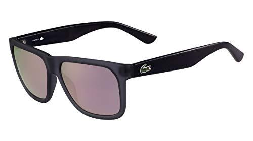 Óculos Lacoste L732S 035 Cinza Translúcido Preto Lente Cinza Flash Rosa Tam 56