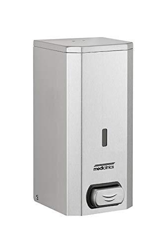 Mediclinics Spray Dispensador 1500 ML con botón de presión de Acero Inoxidable para líquido de Alcohol