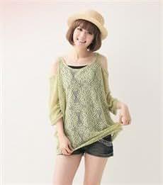 Flojo blusa de las mujeres de moda hueco de encaje
