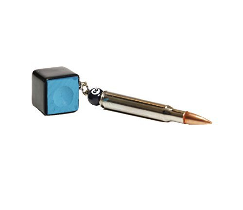 Chalk Box Bullet Pool Stick Pocket Chalker (Black, Bullet Chalker)