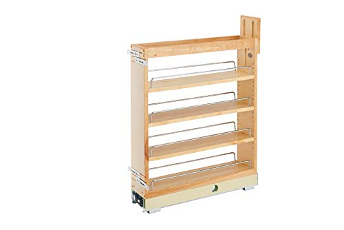 - Rev-A-Shelf - 448-BCBBSC-5C - 5 in. Pull-Out Wood Base Cabinet Organizer with Ball-Bearing Soft-Close Slides