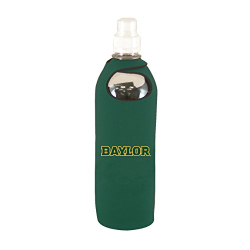 Baylor Bottle Bears - Baylor Bears 1/2 Liter Water Soda Bottle Koozie Holder Cooler w/Clip University