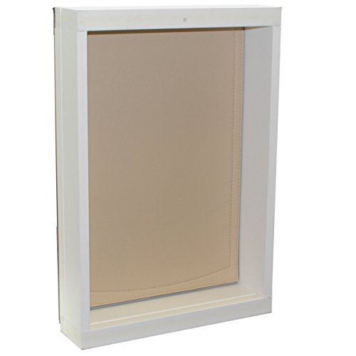Freedom Pet Pass Wall-Mounted Energy-Efficient, Extreme Weather Dog Door with Insulated Flap - L by Freedom Pet Pass