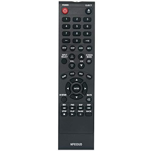NF033UD Replace Remote Control Applicable for Sylvania LCD TV LD190SS1 LD320SS2 LD190SS2 LD195SSX LD320SSX LD320SS2 A9DF1UH LD320SS1 Emerson TV LD190EM1 LD190EM2 LD260EM2 LD320EM2 RLD190EM1 RLD190EM2 ()