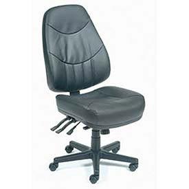 8 Way Adjustable Ergonomic Multifunction Chair, Leather, Black ()