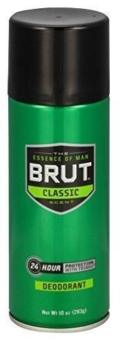 Brut Deodorant 10oz Aerosol Classic Scent (3 Pack)