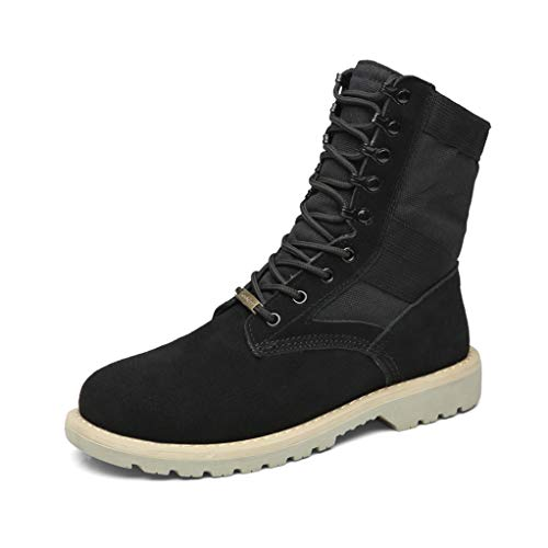 - Giles Jones Men's Combat Boots Autumn Winter Anti-Slip Light Desert Motorcycle Boots