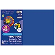 Pacon Tru-Ray Construction Paper, 12-Inches by 18-Inches, 50-Count, Royal Blue (103049)