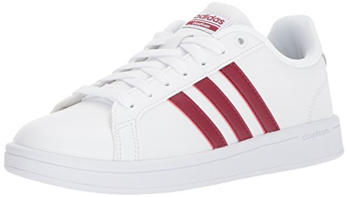 adidas Women's Cf Advantage Sneaker White, Collegiate Burgundy,white