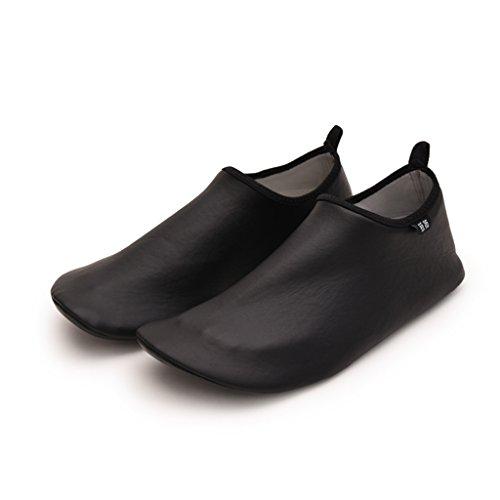 Zapatos Natación Aguas Arriba PU Superior Adulto Masculino Zapatos Para Caminar Buceo Con Esnórquel Zapatos De Playa Suela De Panal Antideslizante TPR Cut-proof Zapatos De Playa