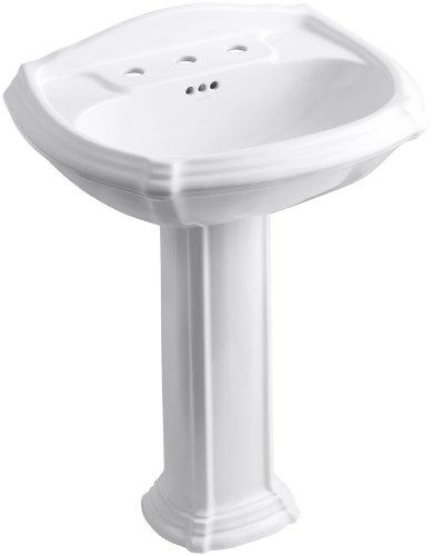 KOHLER K-2221-8-0 Portrait Pedestal Bathroom Sink with 8