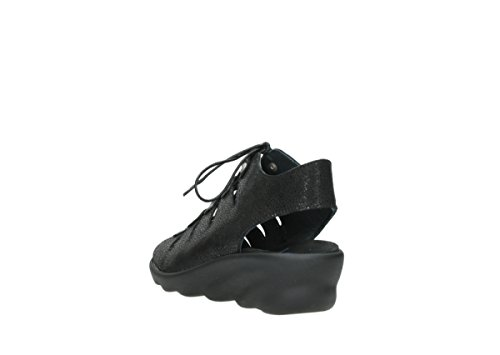 90000 Nubuck Arena Sandales Black Comfort Wolky fqB4vw