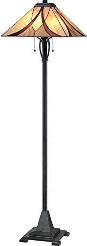 Quoizel TFAS9360VA Asheville Tiffany Floor Lamp, 2-Light, 200 Watts, Valiant Bronze (60
