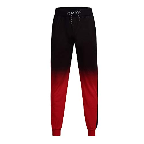 WOCACHI Final Clear Out Mens Sweatpants Jogger Pants Trousers Sports Pants Skinny Straight Leg Drawstring Gradient Stripe Outdoor Leggings Casual Sportswear Winter Autumn 2019 2018 Sale Christmas ()