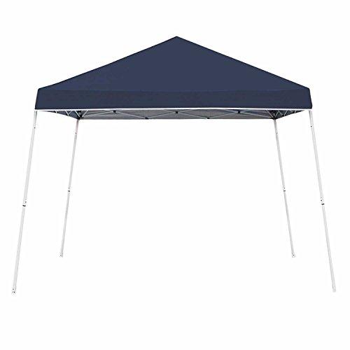Z-Shade 10 x 10 Foot Angled Leg Taffeta Peak Style Canopy with Carry Bag, Navy (Navy Canopy Tent)