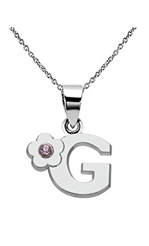 Kebaner Letter Initial Alphabet G Pink Crystal Script Word Fashion Pendant - G D And Company