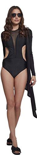 Nero Ladies Urban Bagno Swimsuit Tech black 00007 Mesh Da Costume Donna Classics A44xwzg