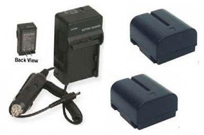 2 Batteries + Charger for JVC GR-DVL815, JVC GR-DVL817, JVC GR-DVL820, JVC GR-DVL915, JVC GR-DVL920U by photo High Quality