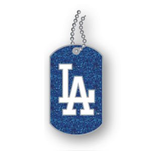 Los Angeles Dodgers - MLB Glitter Dog Tag Necklace